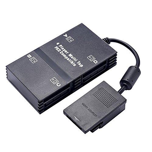 xfuny mehrspieleradapter für PS2, 4Player-Multiarmatur Adapter-Anschluss für Playstation 2PS2 (Multitap Sony Playstation)
