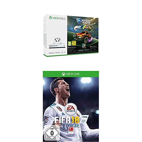 Xbox One S 500GB Konsole - Rocket League Bundle + FIFA 18