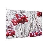 Bilderwelten Crédence en Verre - No.CA42 Forest Fruits - Paysage 2:3, Peinture Murale revetement Mural Cuisine dosseret de Cuisine Impression sur Verre Fond de Cuisine, Dimension: 59cm x 90cm