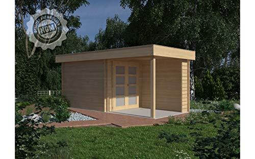 HGM GmbH Gartenhaus Nürnberg C2 + farbloser Imprägnierung Gartenhaus Holz Holzhaus