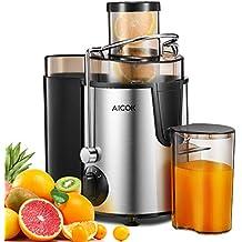 Licuadoras Para Verduras y Frutas Acero Inoxidable, Aicok Licuadora Exprimidor y Extractor de Zumos Exprimidor