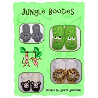 Jungle Animal Baby Bootie Crochet Pattern