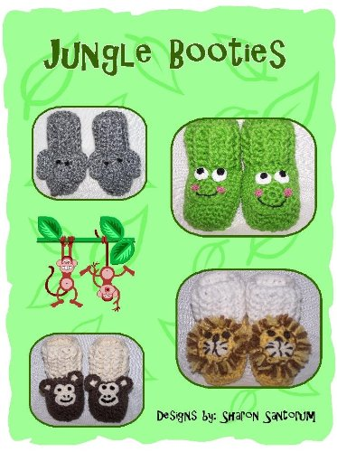 Jungle Animal Baby Bootie Crochet Pattern (English Edition) Monkey Booties
