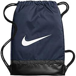 Nike Nk Brsla Gmsk Bolsa de Cuerdas, Hombre, Azul (Midnight Navy / Black / White), Talla Única