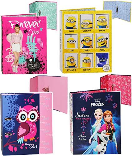 Belldessa Ringbuch / Sammelordner / Aktenordner -  Disney Frozen - die Eiskönigin  - A4 - Ringordner für Dokumente / 2 Ring - Mechanik - Schulordner Büro - Ordner - v..