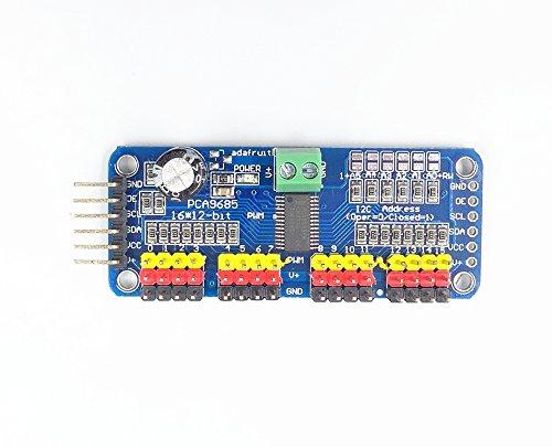 JZK® PCA9685 16 Kanal 12-Bit PWM Servomotor Treiber IIC Modul für Arduino Roboter