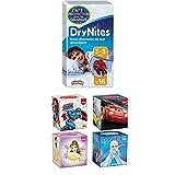 DryNites Bettnässen Pyjama Unterhosen für Jungen Jumbo Monatspackung 3-5 Jahre, 1er Pack (1 x 64 Stück)+ Kleenex Collection Kids 4X56Handkerchiefs 3-Ply Tissues Assortment Bundle