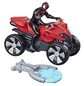 Marvel Spiderman - Spiderman Figura Vehículo Blast y Go Kid Arachnid, b9995