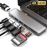 dodocool Hub USB C, Adattatore 7 in 1 HUB, Tipo C a 4K HDMI, 3 Porte USB 3.0, Thunderbolt 3 40Gbps, Lettore Schede SD/TF per MacBook PRO 2019/2018 / 2017/2016, MacBook Air 2019/2018