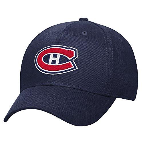 NHL Montreal Canadiens Herren Basic Pro Form Flex Cap, Large/X-Large, Navy (Montreal Canadiens Caps)