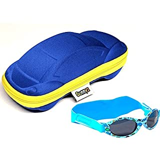 Edz Kidz Baby Jungen (0-24 Monate) Sonnenbrille blau Dinosaur / Car Combi