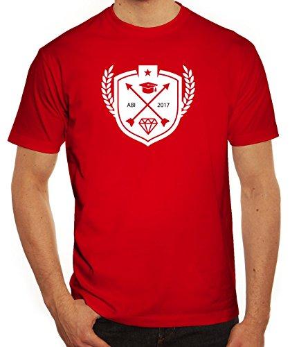 Abschluss Abitur Herren T-Shirt mit Wappen Abi 2017 Motiv von ShirtStreet Rot