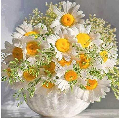 (Yangll Diamant Stickerei Gelbe Chrysantheme Topfpflanzen DIY 5D Dimond Malerei Stickerei Kits Malerei Voll Compilation, 40X40 cm)