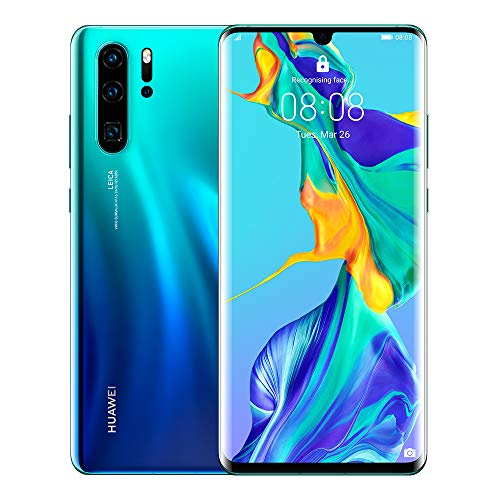 Huawei P30 Pro 128 GB 6.47 Inch OLED Display Smartphone with Leica Quad AI Camera, 8GB RAM, EMUI 9.1.0 Sim-Free Android Mobile Phone, Aurora, UK Version