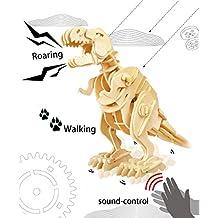 Robotime 3D Puzzle Dinosaurier Aus Holz Sammeln Holz Handwerk Beste Geburtstag Weihnachtsgeschenke F¨¹r Kinder