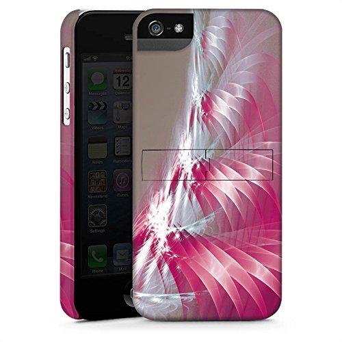Apple iPhone 5s Housse Étui Protection Coque Motif Motif Lumière CasStandup blanc