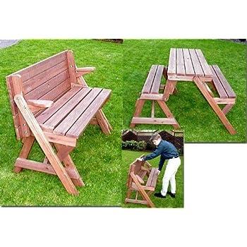 Amazonde Holzbank Tisch Sitzgarnitur Clevere Sache Die Kombibank