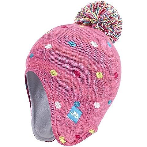 Trespass Kinder Mädchen Queenie Beanie / Mütze mit Ohrenschutz und Bommel (5-7 Jahre) (Rosa)