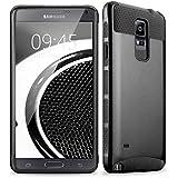 Xinda Samsung Carcasa antigolpes Dual Layer TPU PC híbrido Slim Hard Back Case Carcasa para Samsung Note 4, plástico, negro, Samsung Galaxy Note 4
