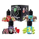 Set E-Liquid BAUBLE de ElecVap - Sin Nicotina - 4 sabores de 30ml formato TPD - 0MG Nicotina - E-Liquido para Cigarrillos Electronicos - Kit de Sabores E Liquidos para Vaper
