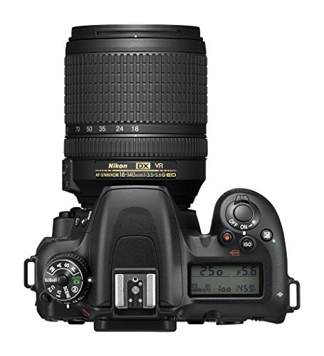 "Nikkon D7500 - Cámara réflex Digital de 20.9 MP (Pantalla LCD 3.2"", 4K/UHD, SnapBridge, Bluetooth, WiFi) Color Negro - Kit con Objetivo AF-S DX 18-140 mm f/3.5-5.6G ED VR"