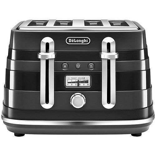 Delonghi CTA4003.BK Avvolta 4 Scheiben Toaster 1800W 2 Jahre Garantie Schwarz
