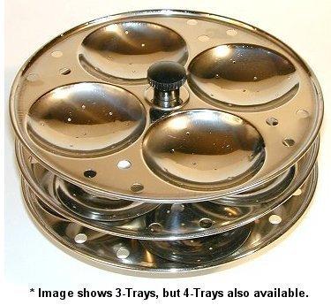 Cuiseur vapeur pour idlis indiens - 4 plateaux - Reis Maker Topf