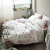 Kexinfan Bettbezug Baumwolldruck-Vierteiler-Set Bett Bett Bett Schlafsaal Bettwäsche, Bettwäsche, 1 Meter Sonnenschein, 1,8 M (6 Fuß) Bett