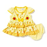 Camey Girls Bow Frock Set (YELLOW, 12-18...