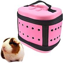 FLAdorepet Pequeño Animal Squirrel Carrier Plegable EVA Hamster Carry Cage Bolsa de Viaje para cobayas Cerdo