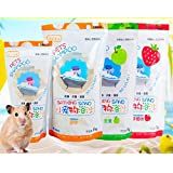 PETS EMPIRE Bathing Sand Dust Guinea Pig Hamster Gerbil Deodorant Cleaning (Strawberry, 500g (Pack of 2))