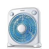 Ventilatoren Mini Elektrischer Ventilator Desktop Home Silent Fan Etage Studentenwohnheim Kleine Plattenspieler Tischventilator (Color : Blue)
