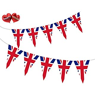 Party Decor British Union Jack Patriotic Themed Bunting Banner 15 flags for guaranteed simply stylish party National Royal decoration by
