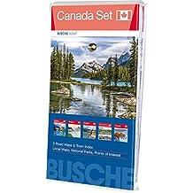 Canada Set: 5 Karten im Set: Alberta/British Columbia, Ontario, Québec, Atlantic Provinces & Island of Newfoundland, Übersichtskarte Canada; Busche Map Straßenkarten