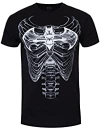 DC Comics Men39;s Batman Ribcage Logo T-Shirt Black
