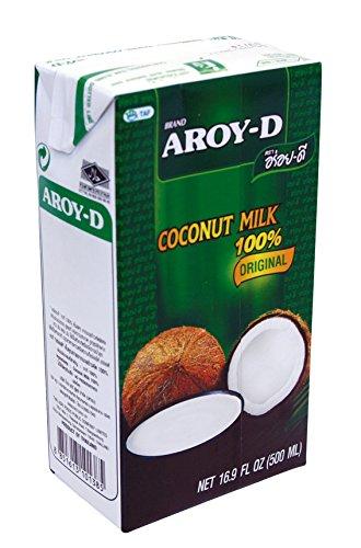 Preisvergleich Produktbild 12er Pack - AROY-D Kokosmilch [12x 500ml] Kokosnussmilch Cocosmilch Coconut Milk + ein kleines Glückspüppchen - Holzpüppchen