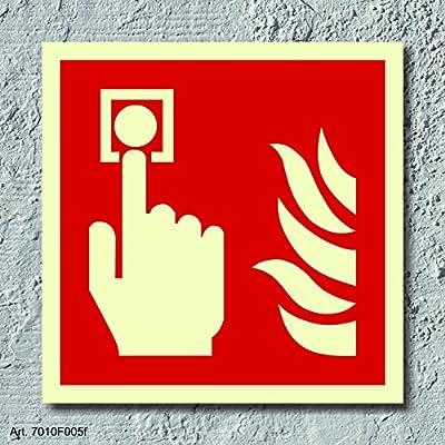 Brandmelder Brandschutzzeichen Symbol Aufkleber Nachleuchtend ASR A1.3