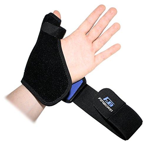 FinBurst Ferula Pulgar - Muñequera Ortopédica Profesional para Recuperación Rápida y Alivio del Dolor - Para mano Derecha e Izquierda