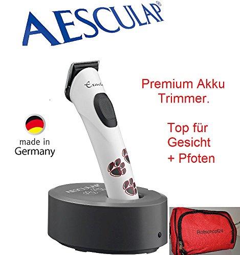 Samsebaer Rotschopf24 Edition: Aesculap Isis Akku Trimmer f. Feinarbeiten wie Gesicht und Pfoten + Tasche