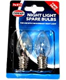 NIGHT LIGHT BULBS 7W E14 NIGHTLIGHT BULB LAMP PACK OF 2
