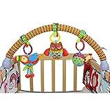 Highdas bébé suspendu jouets en peluche avec velcro peut être Hung lit / berceaux & poussette / poussette facilement (animaux de ferme)