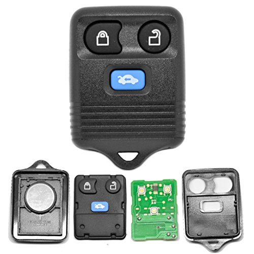 Expedition Ford Mit Auto-batterie (Auto Schlüssel Funk Fernbedienung 1x Gehäuse + 1x Tastenfeld + 1x 434 MHz Sender Sendeeinheit + 1x Batterie für Ford)