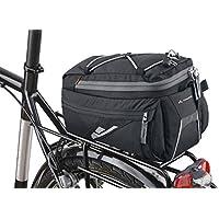 VAUDE borsa da bicicletta SilkRoad SNAP-it, nero, 21 x 17 x 31 cm, 11 litri, 12473