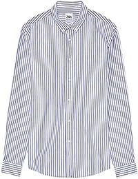 8c2d3330 Zara Men's Striped Oxford Shirt 1928/414 Blue