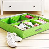Styleys 6 Pairs Shoes Storage Box Shoe Organizer Under Bed Closet Shoebox Non-Woven Eco-Friendly Folding Bamboo Charcoal…