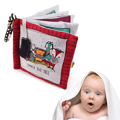 Coupon Matrix - Hot Sale! Toddler Educational Cloth Books, GreatestPAK Baby Kids Animal Early Education Learning Book Brain Development CM© toy Gift For Boys Girls (Under The Tree)
