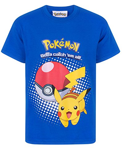 Official Pokemon Pikachu Pokeball Jungen T-Shirt