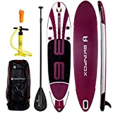SKINFOX AKTIONS-Angebot Sup Whale ALU-Set Weiss-Violett Paddelboard Stand-up aufblasbares Sup