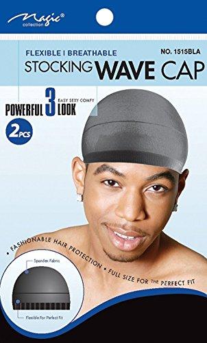 Magic Collection Lot de 2 Bonnets Noirs Pour Waves