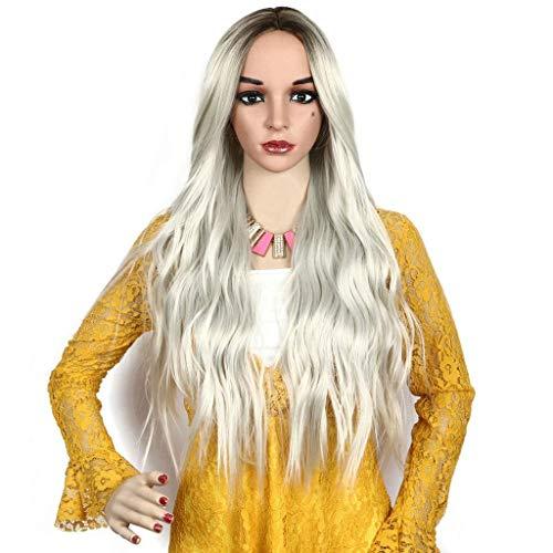 ge Lange lockige Haare natürliche Flauschige Frauen Sexy Locken Haare Damen Cosplay ()